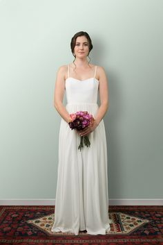 Beautiful Wedding Dresses and more lovingly designed and created in the heart of Wellington New Zealand by our small and experienced team at Sophie Voon Bridal. Simple Gowns, Dress Picture, Lace Bodice, Silk Crepe, Girly Things, Bride, Separates, Wedding Dresses, Pretty