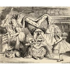 Alice In Wonderland 8x10 print of 1907 Arthur Rackham book plate #7