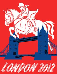 equestrian london olympics poster