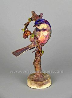 Royal Worcester Dorothy Doughty Birds: Chickadee and Larch | WriteAntiques
