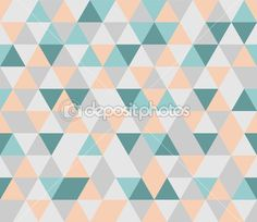Colorful tile vector background illustration. Grey, orange, pink and mint green triangle geometric mosaic card document template or seamless pattern. Hipster flat surface aztec chevron zigzag print design