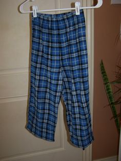 Pajama bottoms in Wascopete's Garage Sale in Tooele , UT for $2. Super soft blue plaid pajama pants size 8
