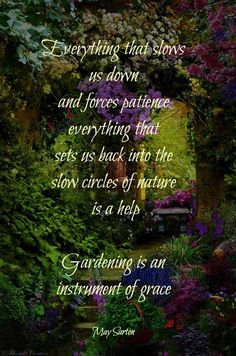 Gardening is an instrument of grace. So true! #GardenQuotes / #GreenDreams