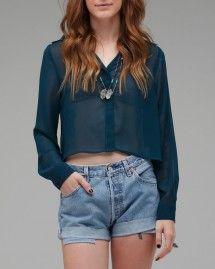 Long sleeve Sheer Button, needsupply.com $44