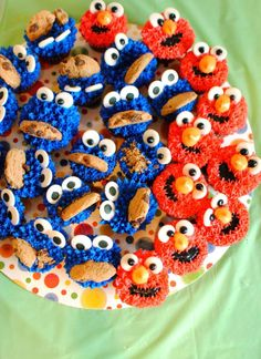 Elmo Birthday cake and treats - Pen pals and cookin gals