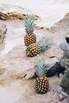 pineapples at the beach