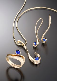 San Francisco Jewelry Store & Laguna Beach Jewelry Store | Grace Pendant with Sapphire - Adam Neeley Fine Art Jewelry