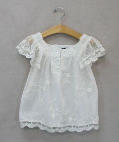 Another great find on White Lace Top - Toddler & Girls by Sweet Charlotte Fashion Kids, Little Girl Fashion, Little Dresses, Little Girl Dresses, Girls Dresses, Toddler Outfits, Kids Outfits, Toddler Girls, Bebe Love
