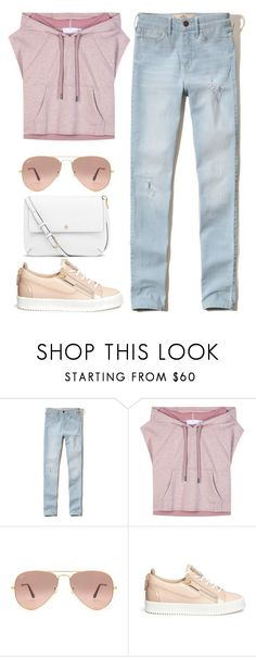 """""""Sans titre #52"""" by bonbonkabengele ❤ liked on Polyvore featuring Hollister Co., adidas, Ray-Ban, Giuseppe Zanotti and Tory Burch"""
