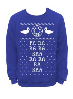 Merry Christmas  Ugly Christmas Sweater  Blue Mens by DentzDesign, $29.00