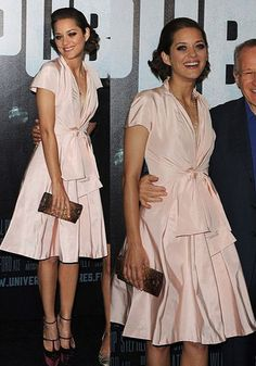 Marion Cotillard... love the style of this dress!