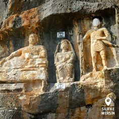 Adamkayalar (rock figures) have been residents in Şeytan Deresi Valley (Devil's Creek Valley) for over 2,000 years... 11 men, 4 women, 2 kids and a mountain goat.