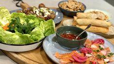 Polenta, Charcuterie, Fresh Rolls, Sashimi, Panna Cotta, Pesto, Appetizers, Food And Drink, Snacks