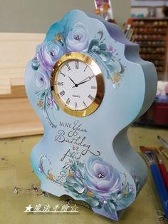 傢飾彩繪★花卉風情 - 彩繪玫瑰-桌型立鐘 @ Ling 的相簿 :: 痞客邦 PIXNET ::