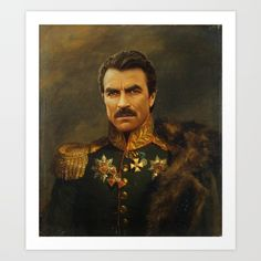 Buy Tom Selleck - replaceface Art Print by replaceface. Worldwide shipping available at Society6.com. Just one of millions of high quality products available.