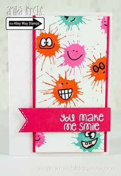 Anni Cards: smileys and blobs