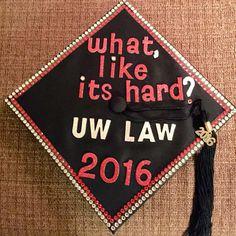 Law school graduation cap