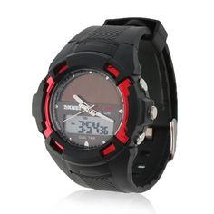 LED Outdoor Sport Solar Energy Waterproof Digital Quartz Dual display Wrist Watches Sale