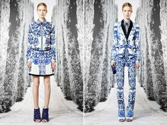 Roberto Cavalli Resort 2012. Love the blue print.