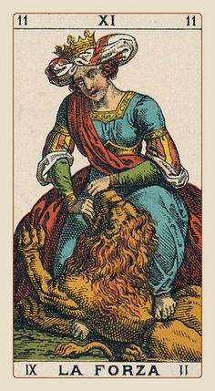 Strength - Ancient Italian Tarot