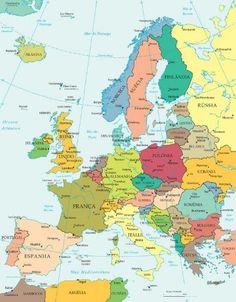 Disfruta aquí de las mejores imagenes del continente europeo en mapas y en fotos reales. El continente europeo es que dio vida a la evolución de la raza