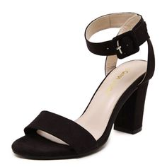 Womens Fashion Suede High Heel Sandals -- More info could be found at the image url.