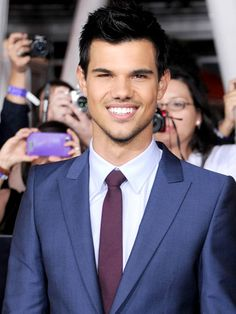 Taylor Lautner............... he will always be Sharkboy to me