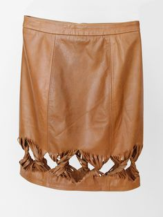 ursa minor ayo leather skirt