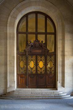 Ornate door, Musee du Louvre, Paris France. © Brian Jannsen Photography