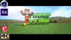 New TC MineCraft Intro (HD2160p) - Free Cinema 4D & After Effects CC Tem...