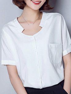 Fashionmia white tops for women online - Fashionmia.com