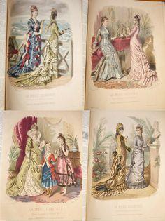 La mode illustrée 1877, Reliure, nombreuses gravures couleurs , port gratuit ! in Livres, BD, revues, Livres anciens, recherchés | eBay