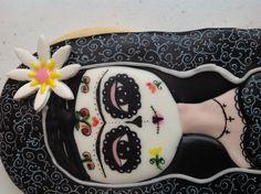 Galleta Frida dia de muertos. Mexico. Mexican cookies. Decoracion inspirada en la obra de Mara Cardenas.