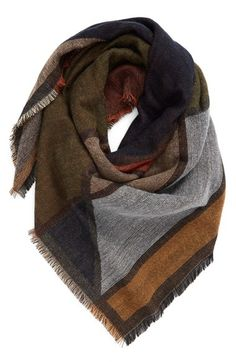 BP. Geo Pattern Woven Square Scarf available at #Nordstrom                                                                                                                                                                                 Mais