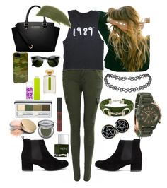 """an army"" by audhayfi on Polyvore featuring Lulu DK, Gucci, Nixon, ZeroUV, Sonix, MICHAEL Michael Kors, By Terry, Clinique, Nails Inc. and Urban Decay"