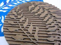 Printing with Gelli Arts®: Gelli® Printing with DIY Cardboard Texture Plates!