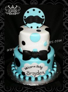 Little Man Baby Shower Cake - Cake by Occasional Cakes - CakesDecor