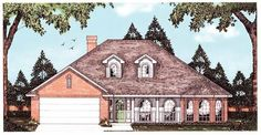 Eplans European House Plan - Taste of Europe - 1817 Square Feet and 3 Bedrooms from Eplans - House Plan Code HWEPL13388