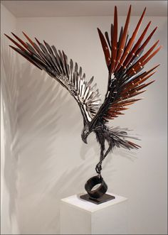 """See our website for even more information on """"metal tree sculpture"""". It is a superb spot to find out more. Metal Tree Wall Art, Scrap Metal Art, Metal Artwork, Metal Art Projects, Metal Crafts, Silverware Art, Metal Art Sculpture, Tree Sculpture, Art Sculptures"""