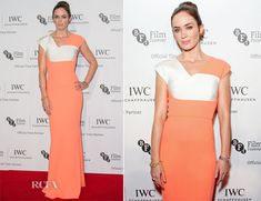 Emily Blunt In Roland Mouret - BFI London Film Festival IWC Gala Dinner