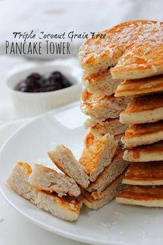 Paleo Coconut Flour Pancakes