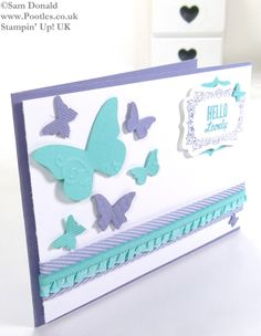 POOTLES Stampin Up UK Hello Lovely Embosslit Butterflies and Card Giveaway 3