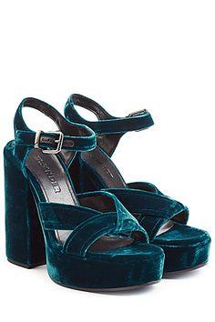 JIL SANDER - Velvet Platform Sandals | STYLEBOP.com