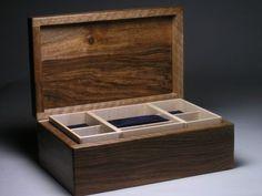 jewellery box in walnut