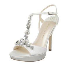 Sandalo donna bianco elegante impreziosito da perle .