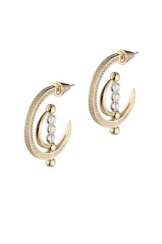 Rent Dahlia Sphere Hoop Earrings by Eddie Borgo for $40 only at Rent the Runway.