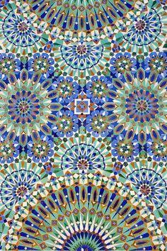 Détail mosaïque mosquée Hassan II