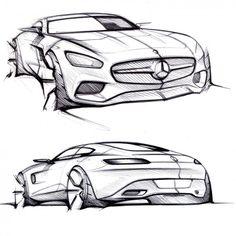Mercedes-AMG GT - Design Sketches