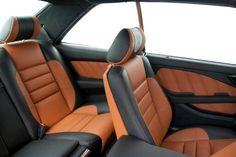 Mercedes 500 SEC - custom project by Carbon Motors; custom leather upholstery, trim set, etc. Mercedes 500, Custom Leather, Motors, Car Seats, Upholstery, Cars, Autos, Car Seat, Vehicles