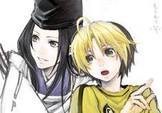 Hikaru no Go : Sai and Shindou.
